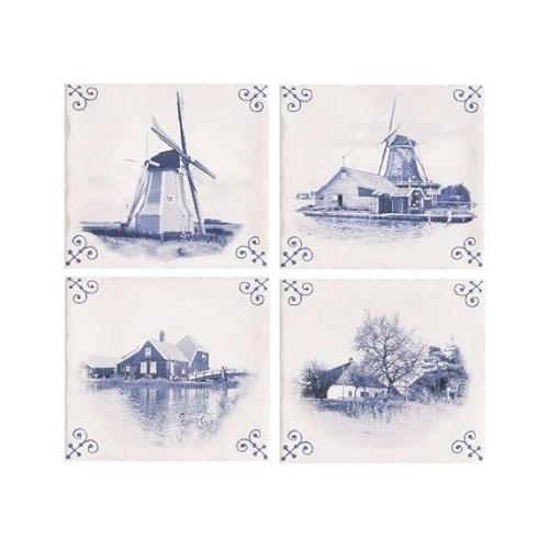 Стенни декори DECOR ANTIC DELFT (4бр)