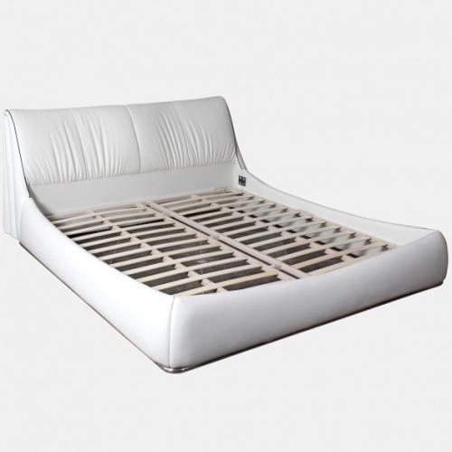 Бяла спалня за матрак с еко кожа