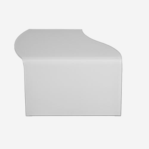 Модерна холна маса от бяло стъкло