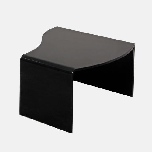 Модерна холна маса от черно стъкло