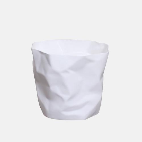 Креативно кошче за боклук в бял цвят