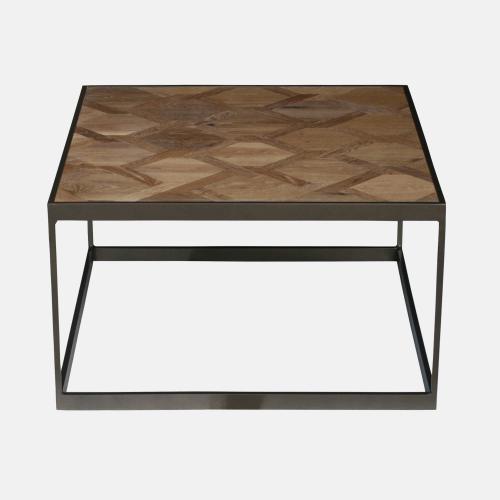 Помощна маса с дървен плот