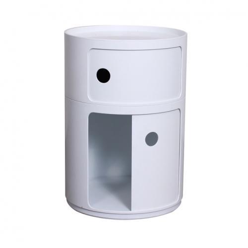 Бяло модерно шкафче