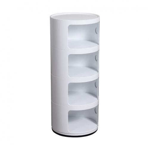 Метално шкафче в бял цвят