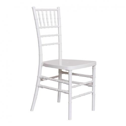 Бял PVC трапезарен стол