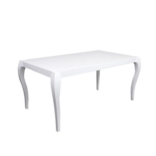 Трапезарна маса с покритие бял лак