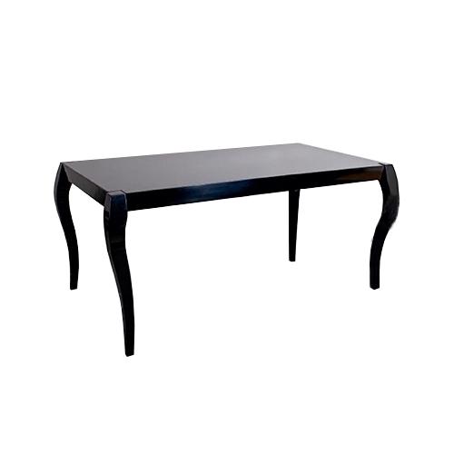 Трапезарна маса с покритие черен лак