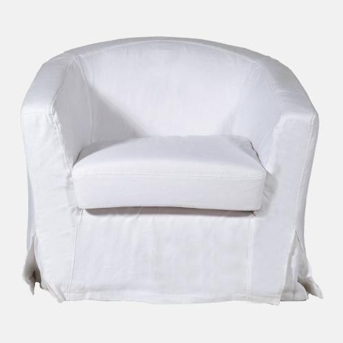 Фотьойл в бял цвят и модерен стил
