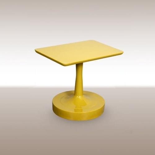 Холна маса с жълт лак