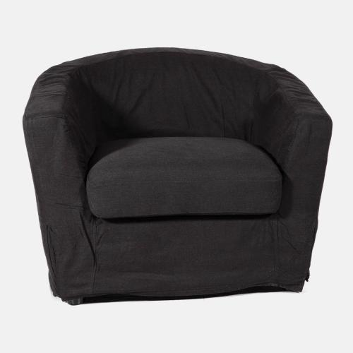 Комфортен фотьойл в черен цвят