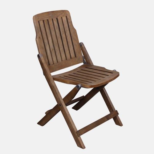 Сгъваем стол с дървена част в избелен бор