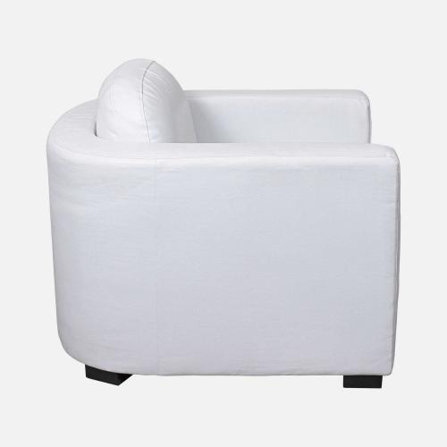Бял кожен фотьойл
