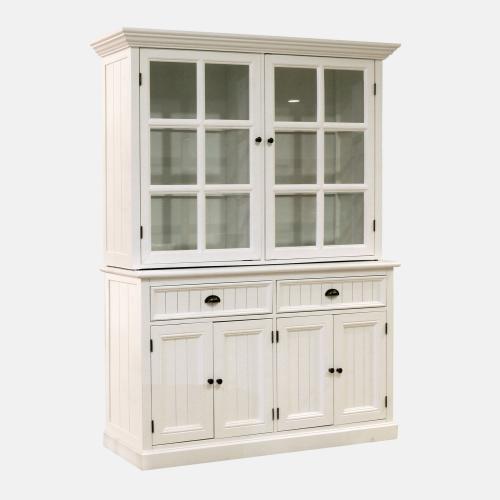 Бяла витрина за трапезария