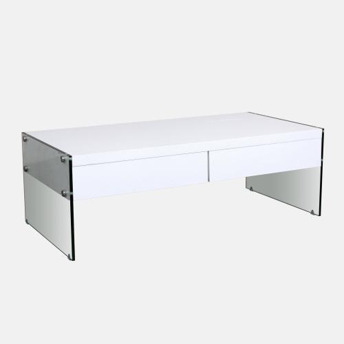 Холна маса от бял дъб и стъкло