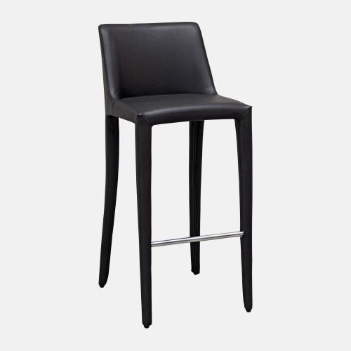 Бар стол изцяло облечен в кожа