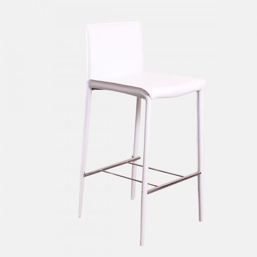 Бар стол от рециклирана кожа