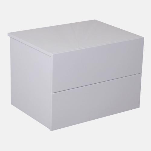 Нощно шкафче в бял лак