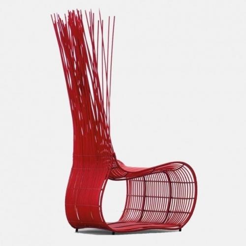 Червен градински стол