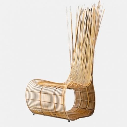 Градински стол в цвят натурално дърво