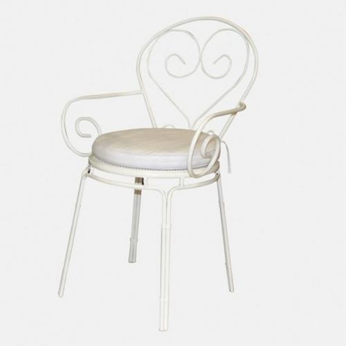 Бяла възглавница за стол