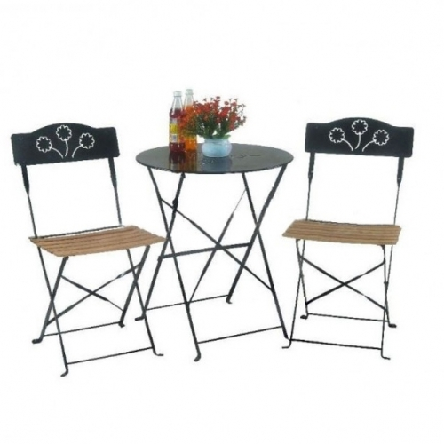 Градински комплект от маса и два стола