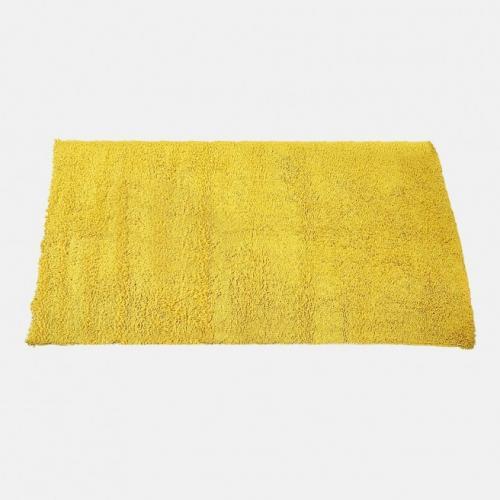 Килим от памук в цвят лимон ( жълт )