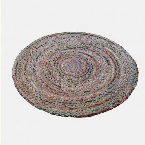Кръгъл килим от памук