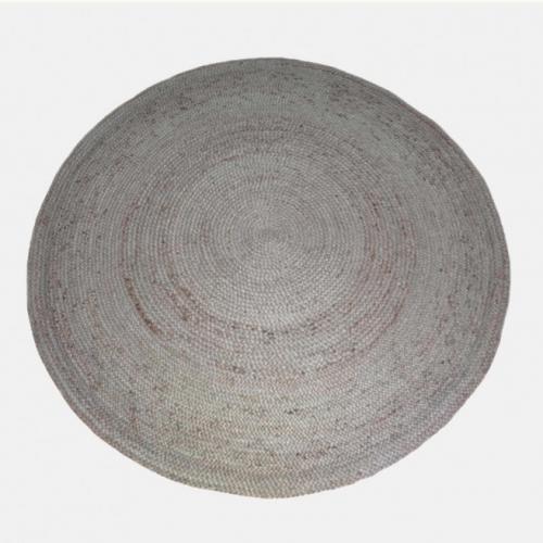 Кръгъл килим в бежов цвят