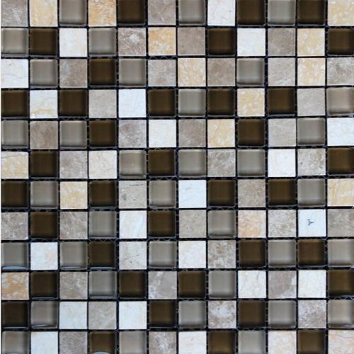 Стъклокерамична мозайка с камък 182