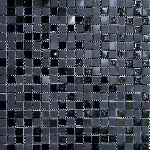 Стъклокерамична мозайка с камък SG-82 BLACK