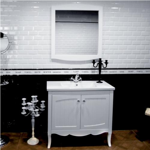 Композиция за баня в матиран бял цвят
