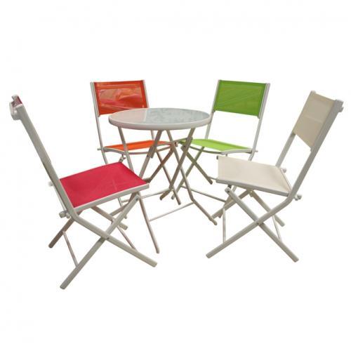 Градински стол от алуминий в зелен цвят