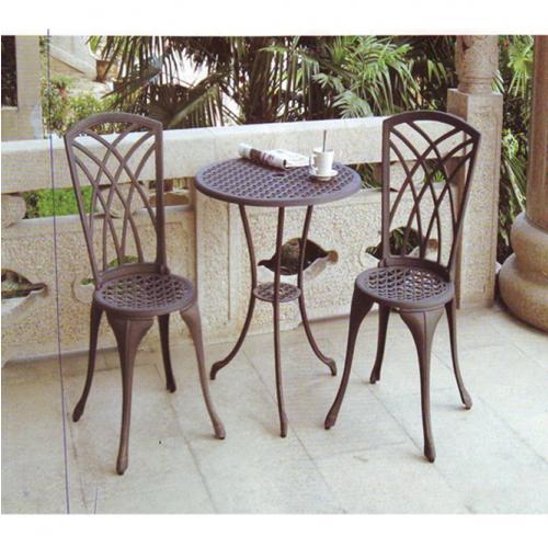 Кръгла градинска маса от ковано желязо