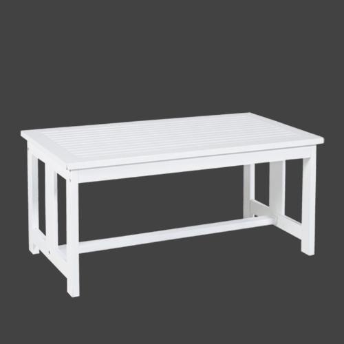 Дървена кафе маса в бял цвят