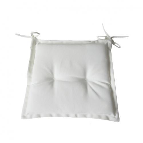 Възглавничка за стол в бял цвят