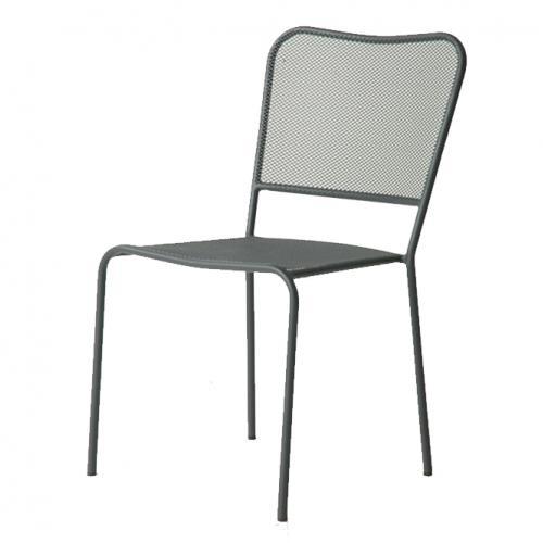 Лилав градински метален стол
