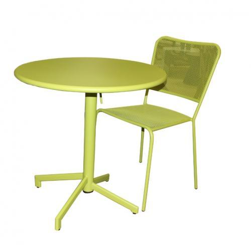 Зелен градински метален стол