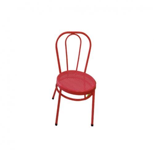 Градински метален стол в розов цвят