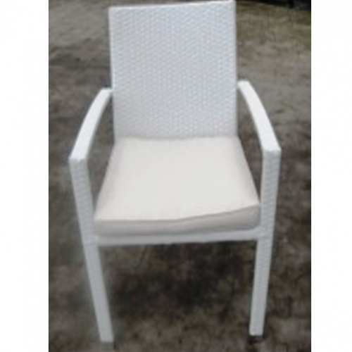 Възглавница за стол, бяла