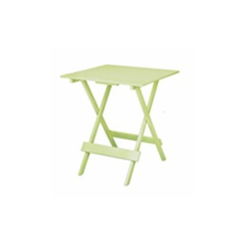 Дървена квадратна сгъваема маса в светло зелено
