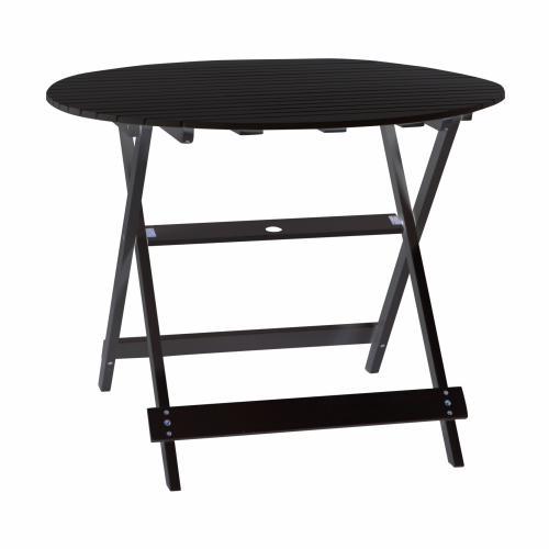 Кръгла сгъваема дървена маса
