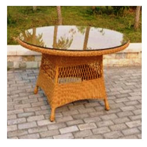 Трапезарна маса със стъклен плот, градинска