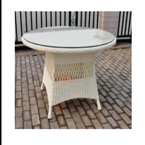 Кръгла трапезарна маса за градина