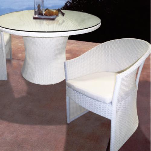 Възглавница за трапезарен стол Amfora, бяла
