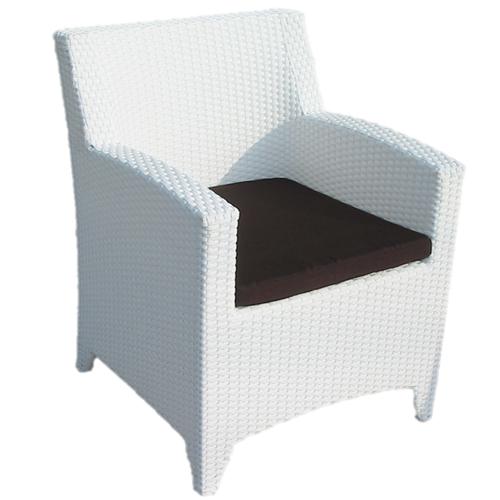 Възглавница за трапезарен стол, кафяв цвят