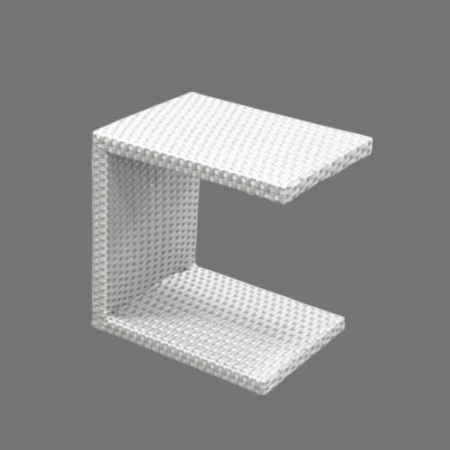 Бяла маса със С-форма