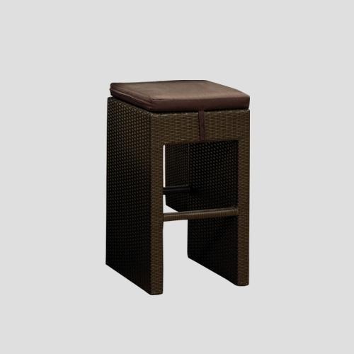 Висок бар стол в тъмен цвят