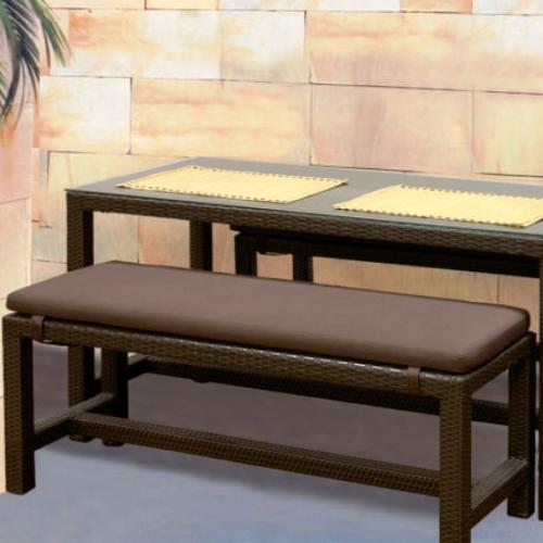 Кафява възглавница за пейка