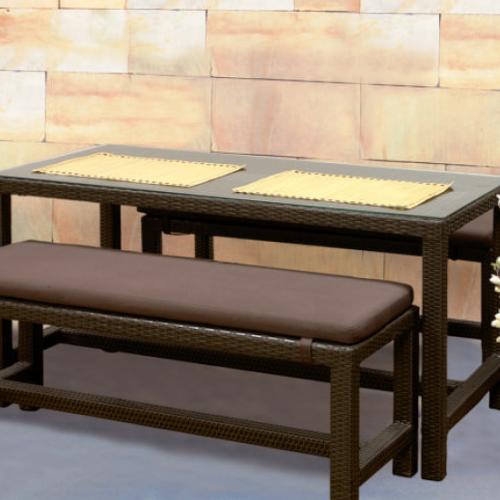 Възглавница за пейка, кафява