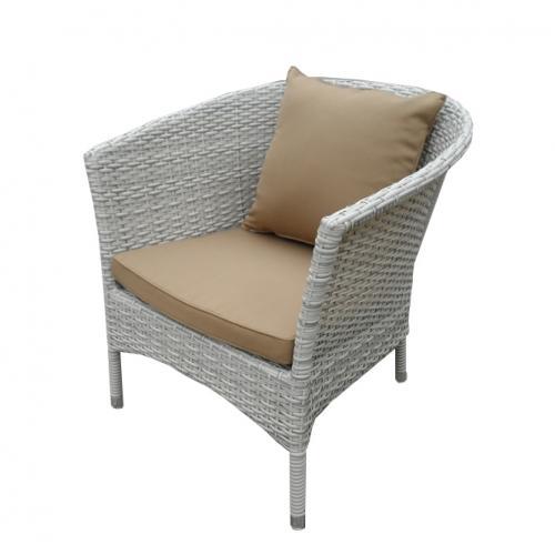 Градинско кресло в сиво-бял цвят